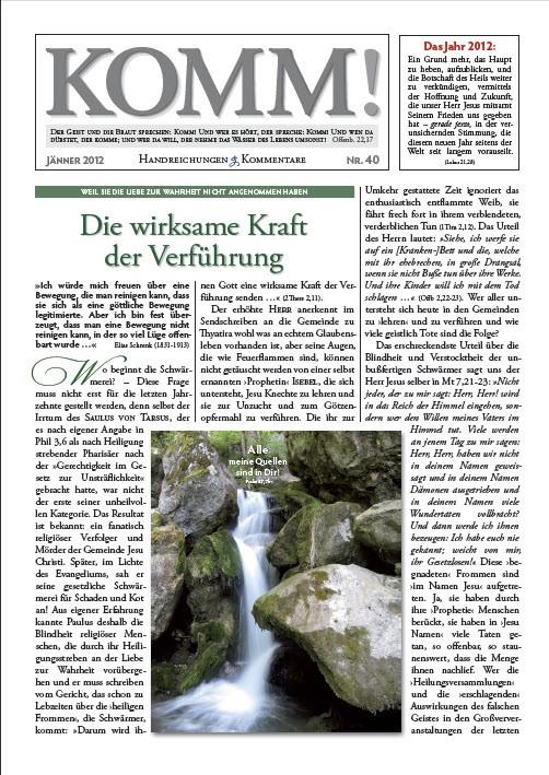 webdisk BilderZeitschirften Komm komm 40 - KOMM! Zeitschriften